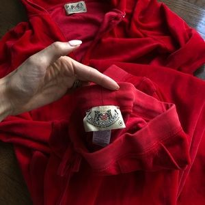 Juicy Couture Other - Red Velvet Juicy Couture TrackSuit